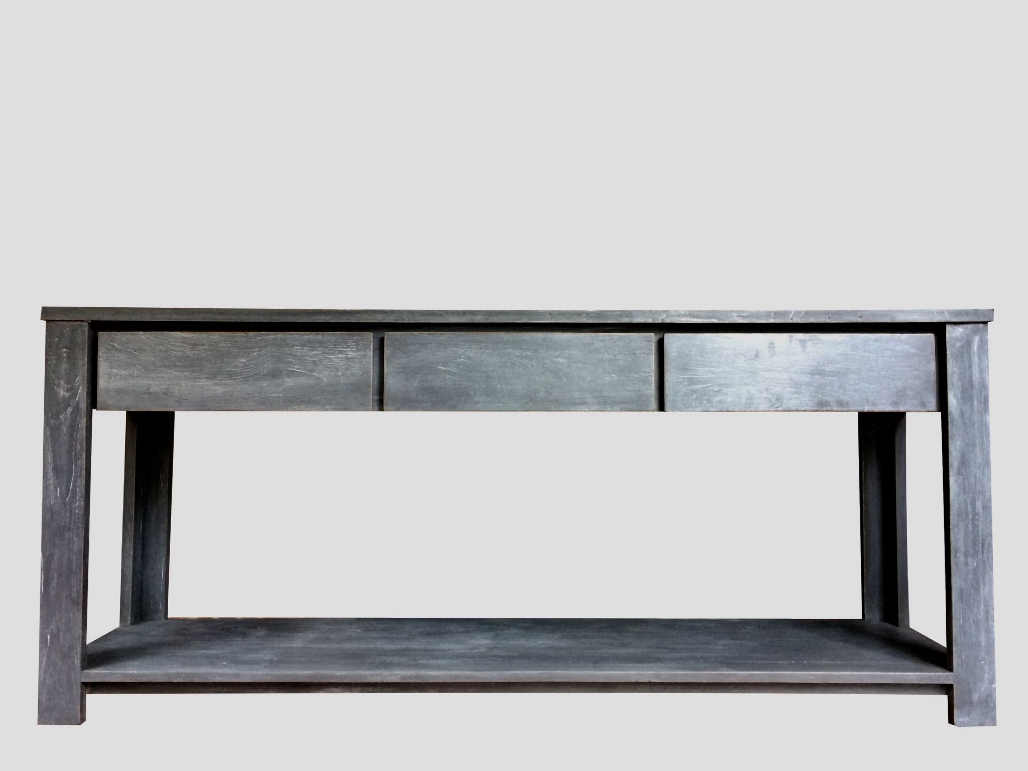 Industrial Style Slate Grey Painted Elm Sideboard Server Console Hall Table
